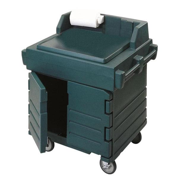 Cambro KWS40519 Green CamKiosk Food Preparation / Counter Work Station Cart Main Image 1