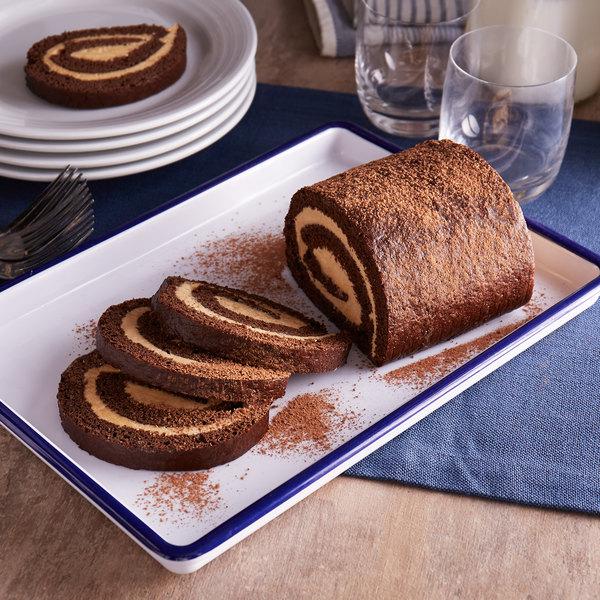 "Arianna's Bakery 21 oz. 5 3/4"" Chocolate Peanut Butter Cake Roll - 9/Case Main Image 4"