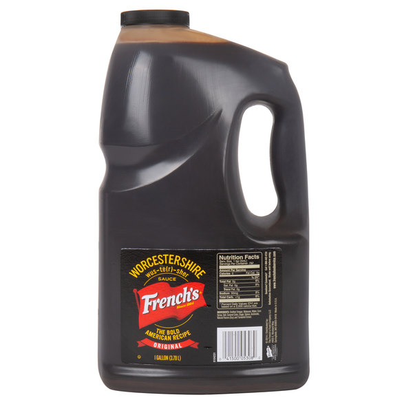 French's 1 Gallon Original Worcestershire Sauce - 4/Case