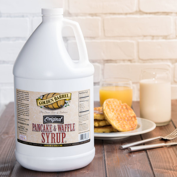 Golden Barrel Pancake and Waffle Syrup 1 Gallon Container - 4/Case Main Image 2