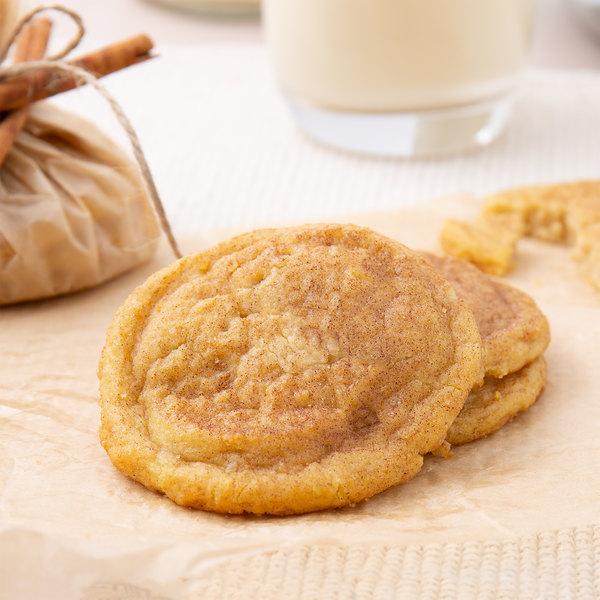 David's Cookies 1.5 oz. Preformed Snickerdoodle Cookie Dough - 216/Case Main Image 3