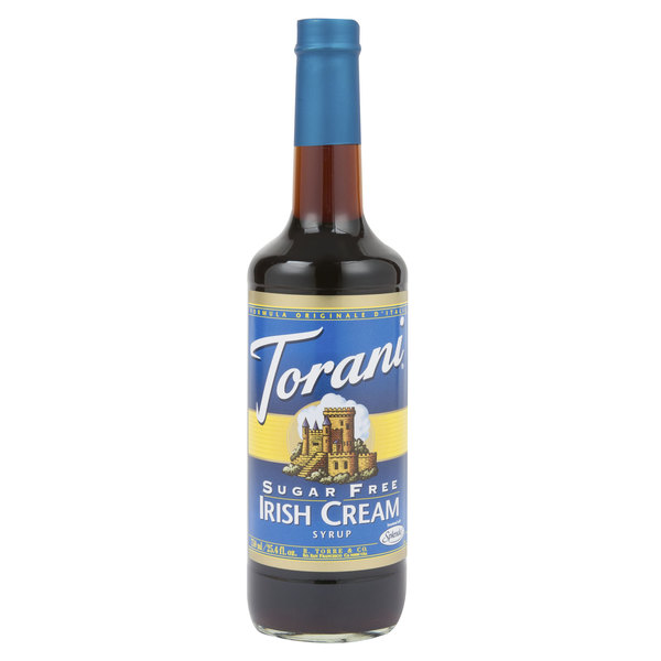 Torani 750 mL Sugar Free Irish Cream Flavoring Syrup