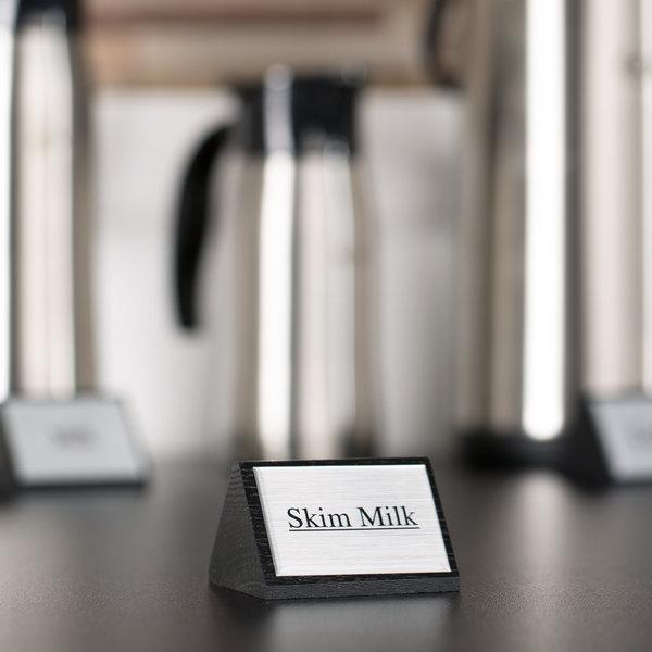 "American Metalcraft SIGNSK9 Wood ""Skim Milk"" Sign"