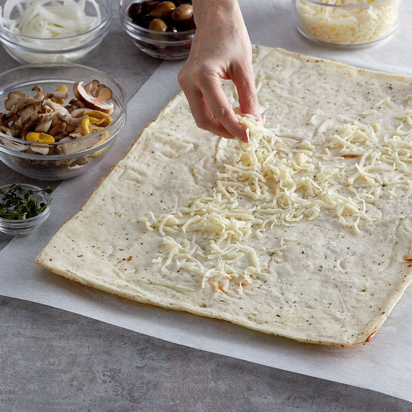 "Venice Bakery 12"" x 16"" Seasoned Vegan Gluten Free Flatbread Crust - 24/Case Main Image 2"