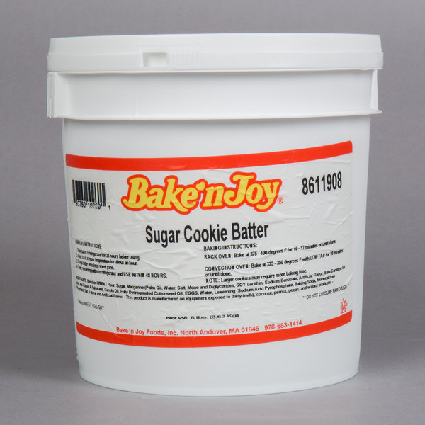 Bake'n Joy 8 Ib. Pail Sugar Cookie Batter - 2/Case