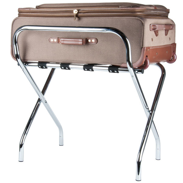 Hold Your Guestsu0027 Luggage In Style With A Modern Chrome Folding Luggage Rack  From Lancaster Table U0026 Seating.