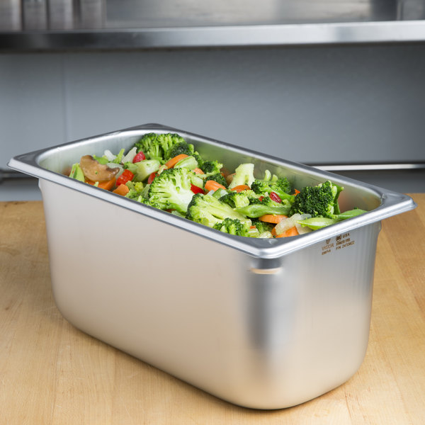 """1/3 Size Stainless Steel Steam Table / Hotel Pan - 6"""" Deep"""