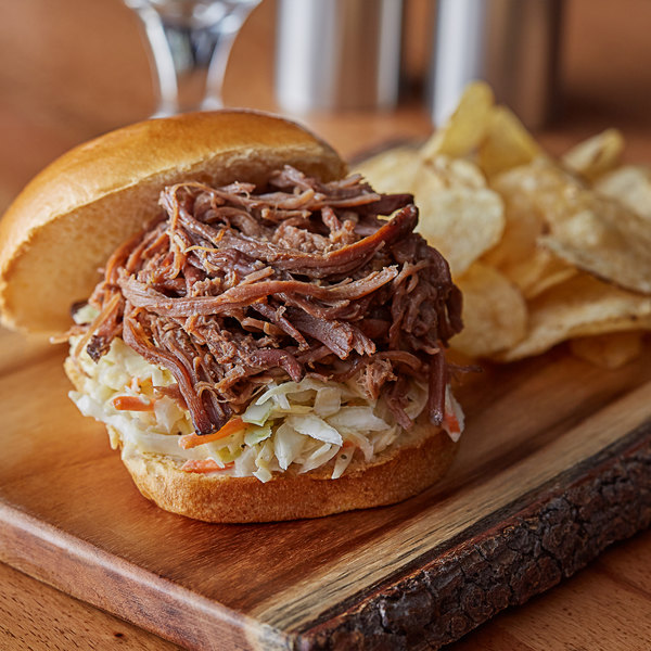 Curly's 2 lb. Fully Cooked Shredded Beef Brisket - 12/Case