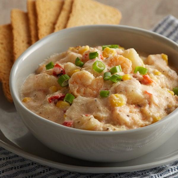 Blount Fine Foods 4 lb. Shrimp and Roasted Corn Chowder - 4/Case Main Image 2