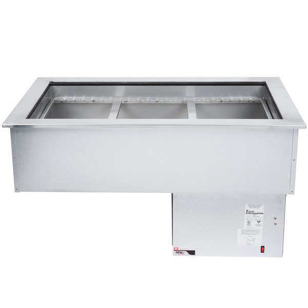 APW Wyott CW-3 3 Pan Drop In Refrigerated Cold Food Well 120V