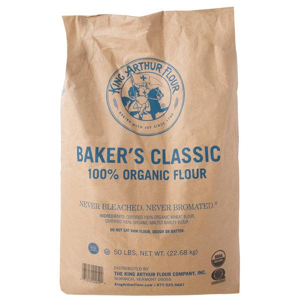 King Arthur Flour Baker's Classic 50 lb  Organic Bread Flour