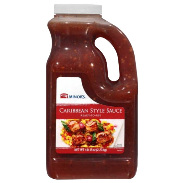 Minor's 0.5 Gallon Caribbean Style Sauce - 4/Case Main Image 1