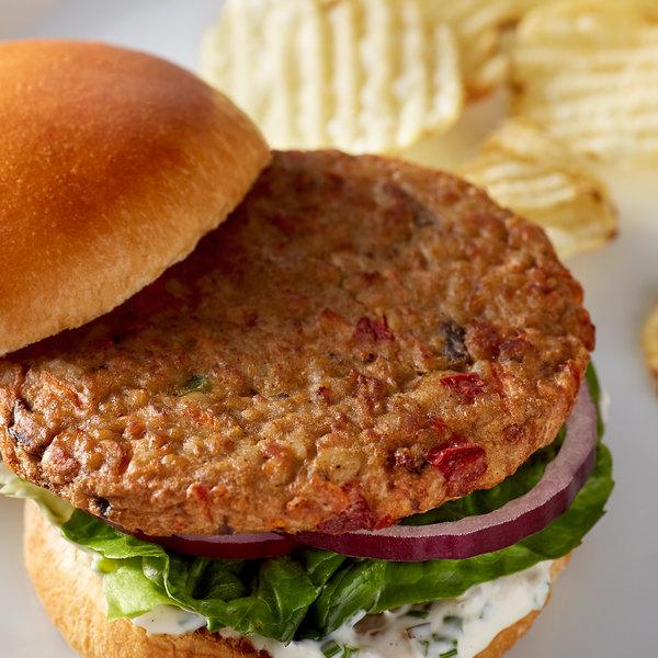 Gardenburger 3.2 oz. Organic Malibu Vegetarian Burger - 48/Case