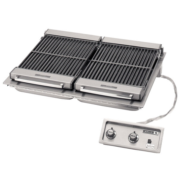 """Wells 5H-B506-208 36"""" Built-In Electric Charbroiler - 208V, 10800W Main Image 1"""