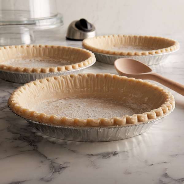 """Chef Pierre 9"""" Deep Dish Unbaked Pie Shell - 20/Case"""