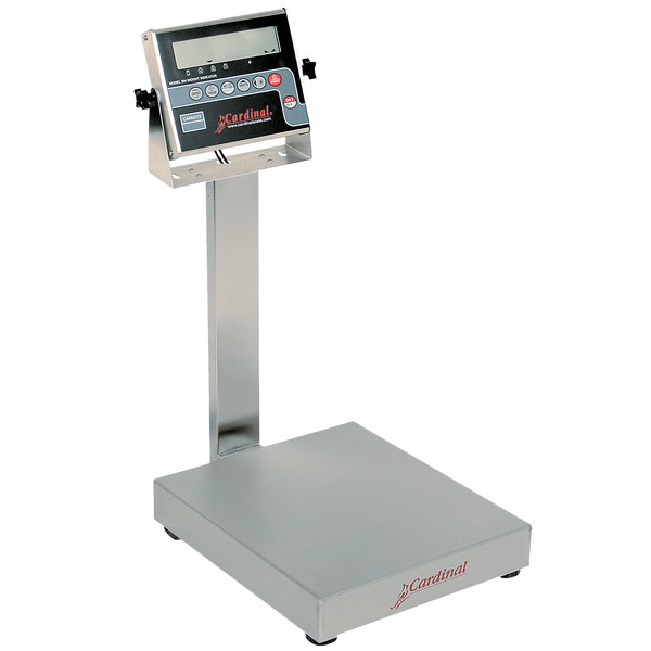 Cardinal Detecto EB-15-204 15 lb. Electronic Bench Scale with 204 Indicator and Tower Display, Legal for Trade