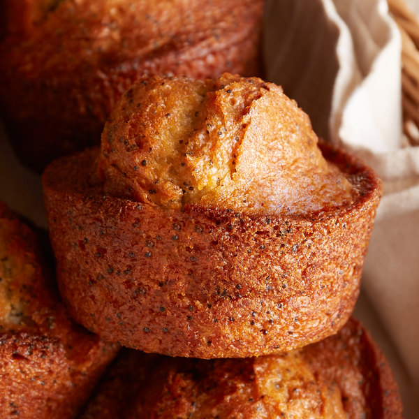 Bake'n Joy Ultra Moist 8 lb. Scoop and Bake Lemon Poppy Muffin Batter - 2/Case