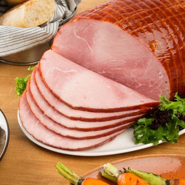 Kunzler 8 lb. Genuine Hardwood Smoked Old Fashioned Boneless Ham - 4/Case
