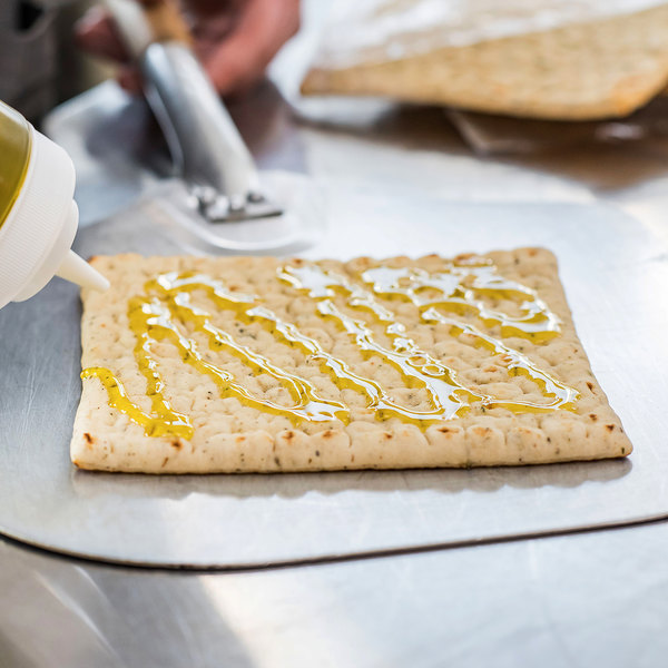 """Rich's 6 1/2"""" x 6 1/2"""" Square Par-Baked Oven-Fired Herb Flatbread - 120/Case"""