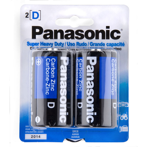 Panasonic Size D Super Heavy Duty Battery - 2/Pack