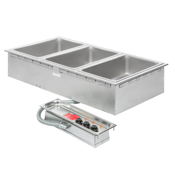 APW Wyott HFW-3 Insulated Three Pan Drop In Hot Food Well with Thermostatic Controls - 120V; 1500W Main Image 1