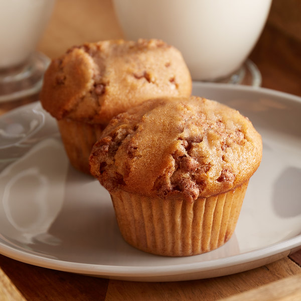 Bake'n Joy 4.5 oz. Pre- Portioned Cinnamon Coffee Cake Muffin Batter - 48/Case