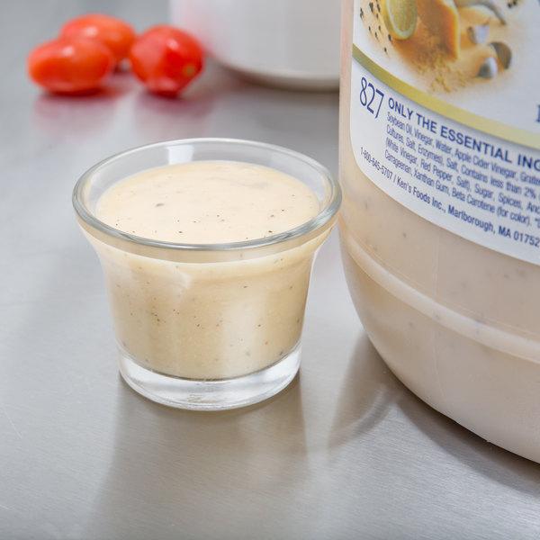 Ken's Foods Essentials 1 Gallon Creamy Caesar Dressing Main Image 3