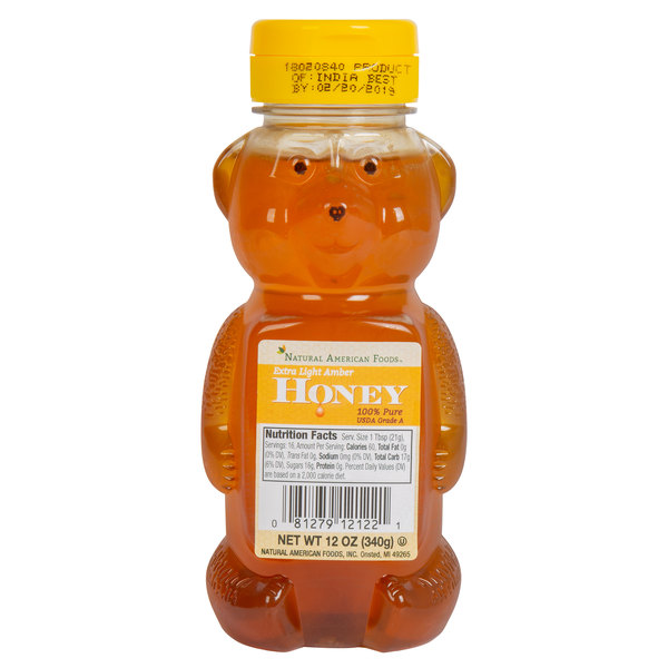 Natural American 12 oz. Honey Bears - 12/Case Main Image 1