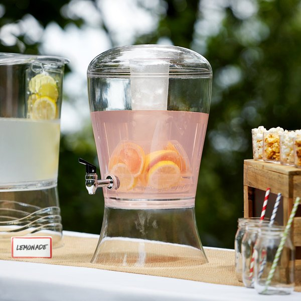 Choice 3 Gallon Acrylic Beverage Dispenser with Ice Core and Fruit Infuser Main Image 2