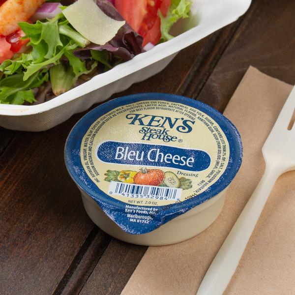 Ken's Foods 2 oz. Bleu Cheese Dressing Cup - 72/Case Main Image 3