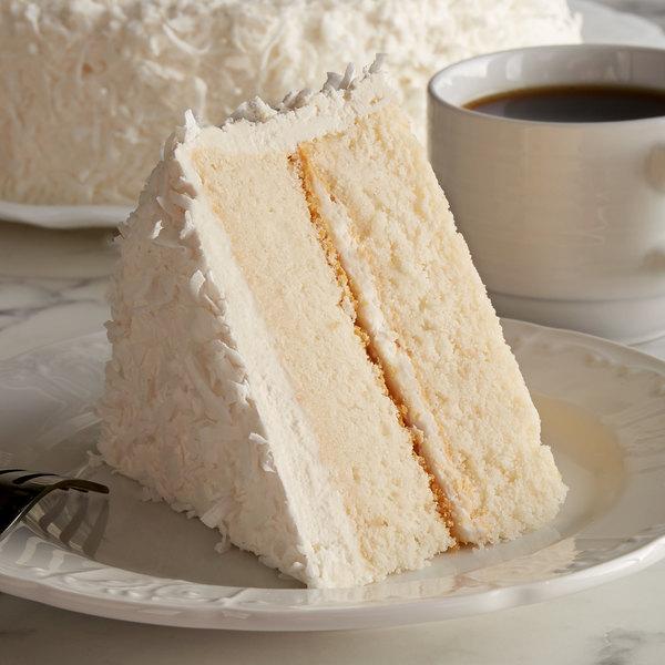 """Pellman 9"""" White Coconut Cake - 4/Case"""