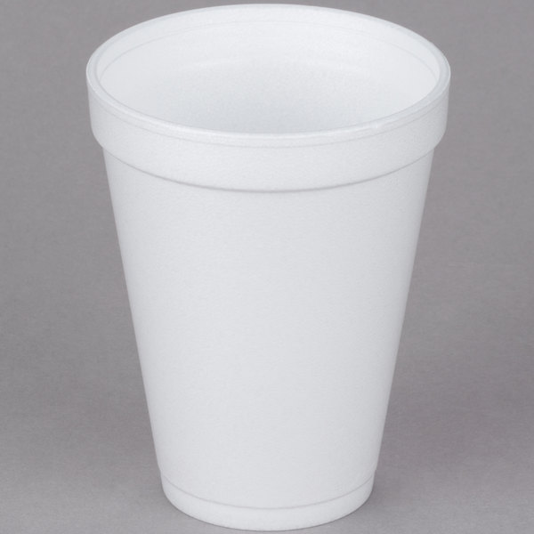 Dart 12j12 12 Oz Customizable White Foam Cup 1000 Case