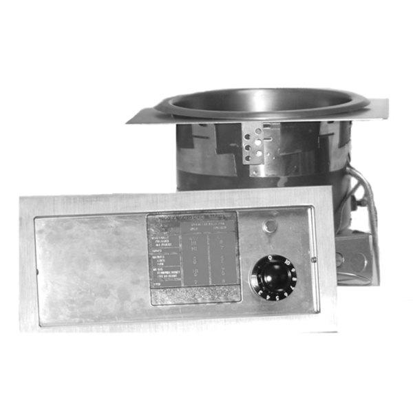 APW Wyott SM-50-EZ-11D EZ-Fill 11 Qt. Round Drop In Soup Well with Drain - 208/240V; 500/600W Main Image 1