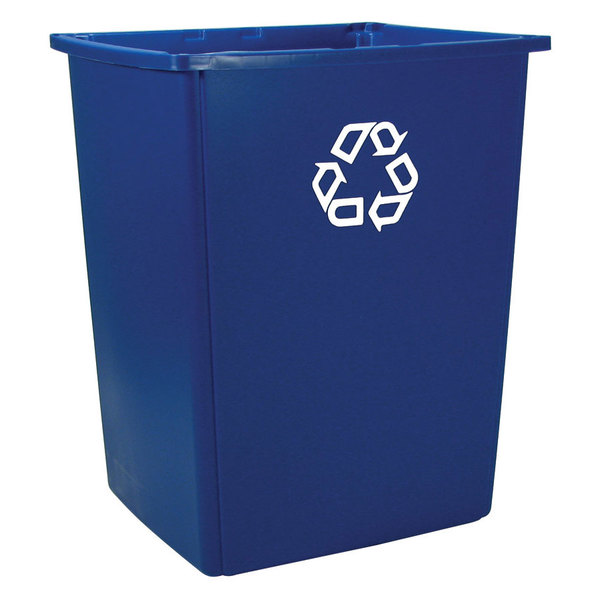 Rubbermaid FG256B73BLUE Glutton Recycling Container 56 Gallons