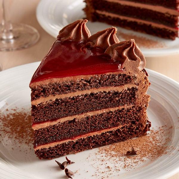 "Pellman 9"" Raspberry Chocolate Cake - 4/Case Main Image 3"