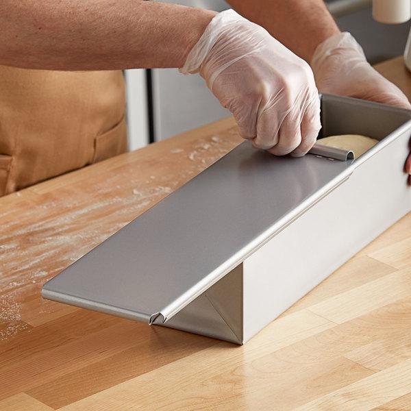 "Glazed Aluminized Steel Sliding Cover for Pullman Bread Pan - 13"" x 4"" Main Image 2"