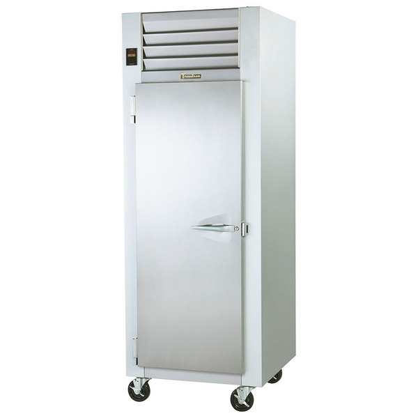 Traulsen G14311 Solid Door 1 Section Hot Food Holding Cabinet with Left Hinged Door Main Image 1
