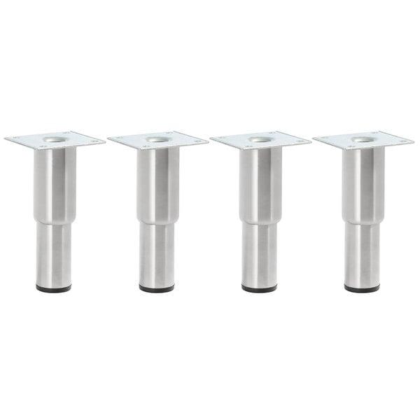 "Regency 5"" - 7"" Adjustable Stainless Steel Legs - 4/Set Main Image 1"