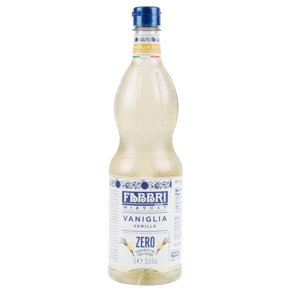 Fabbri 1 Liter Sugar-Free Vanilla Mixybar Syrup