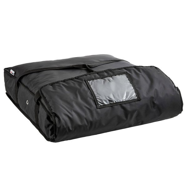 Servit Insulated Pizza Delivery Bag Black Soft Sided Heavy Duty Nylon 24 X 5 Holds Up To 2 20 Or 22 Bo 1 Box