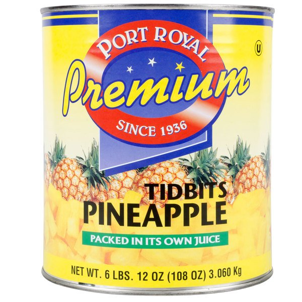 #10 Can Pineapple Tidbits in Natural Juice - 6/Case