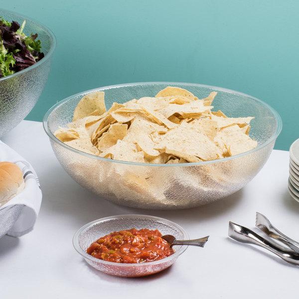 Cambro PSB15176 11.2 Qt. Pebbled Serving/Salad Bowl