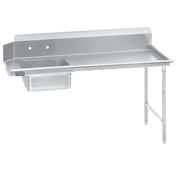 Right Table Advance Tabco DTS-S70-36 3' Standard Stainless Steel Soil Straight Dishtable