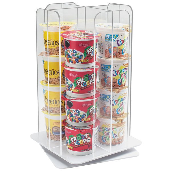 Cal Mil 1539 12 Clear Acrylic 4 Section Revolving Cereal