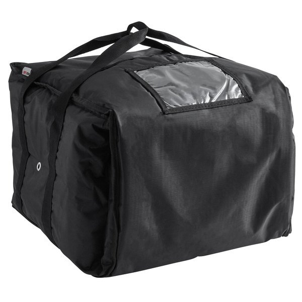 Servit Insulated Pizza Delivery Bag Black Soft Sided Heavy Duty Nylon 16 X 13 Holds Up To 6 12 Or 14 Bo