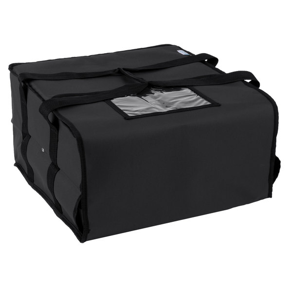 Choice Insulated Pizza Delivery Bag Black Nylon 16 X 8 Holds Up To 4 12 Or 14 Bo