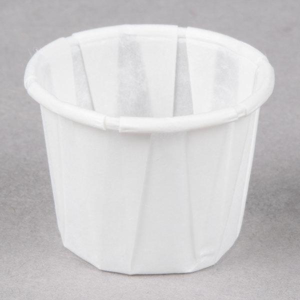 Genpak F050 .5 oz. Harvest Paper Souffle / Portion Cup 250 / Box
