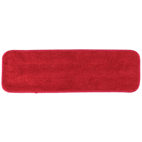18 inch Red Microfiber Wet Velcro® Flat Mop Pad