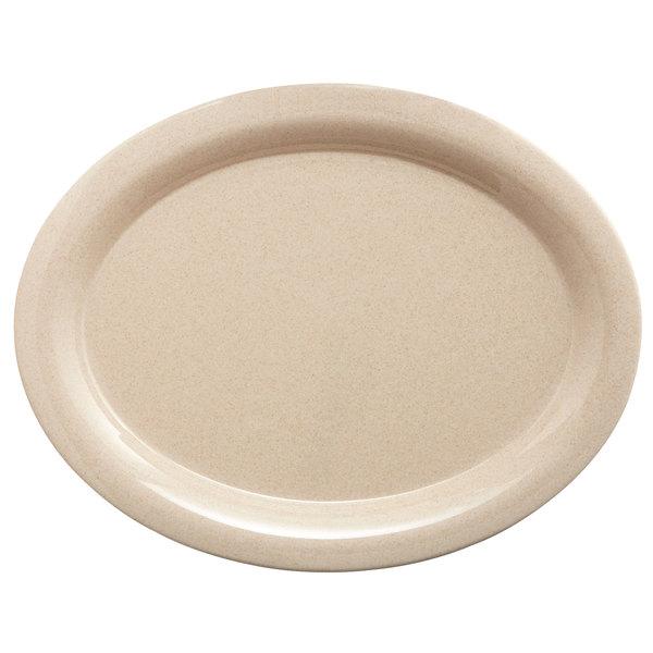"""GET BAM-1201 BambooMel 12"""" x 9"""" Oval Platter - 12/Case"""