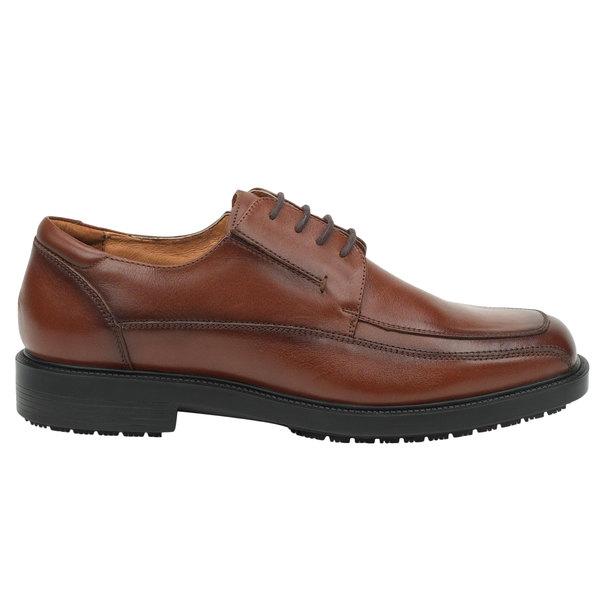 SR Max SRM3050 Manhattan Men's Brown Soft Toe Non-Slip Oxford Dress Shoe